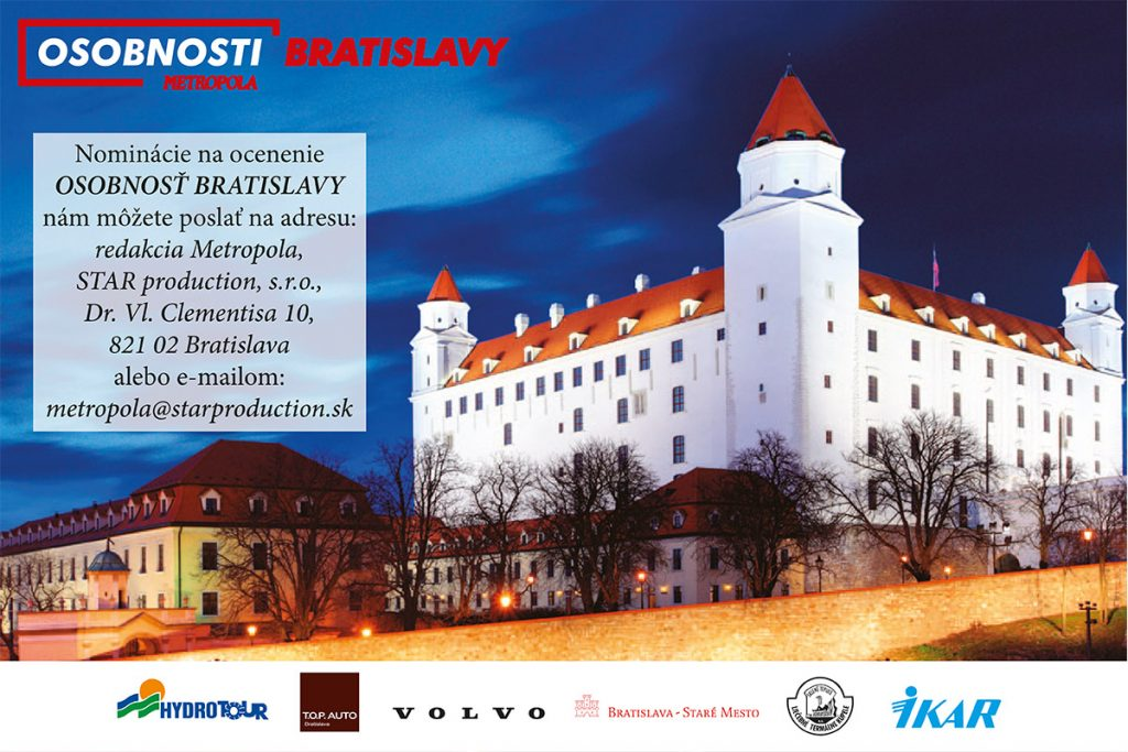 Navrhnite laureátov prestížneho ocenenia Osobnosti Bratislavy 2021